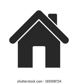 Home icon - vector