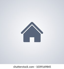 Home icon, vector best flat icon on white background , EPS 10