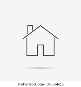 Home Icon. Home Icon Vector. Flat design.