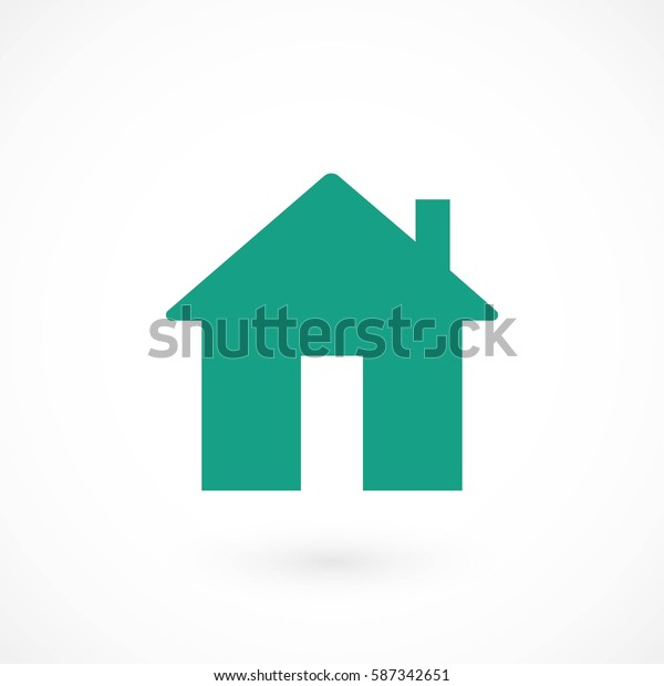 Home icon vector, flat design best vector icon