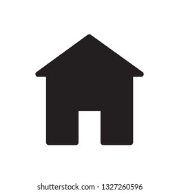 Home icon vector flat style