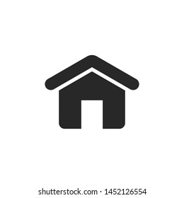 Home icon vector. House building symbol isolated on white