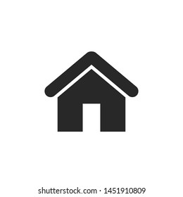 Home icon vector. House symbol isolated on white