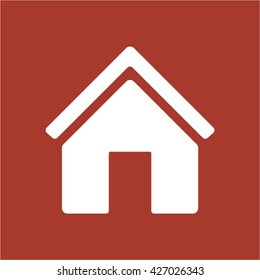 Home  icon, vector illustration. Flat design style
