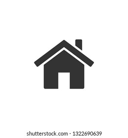 Home icon vector on white background