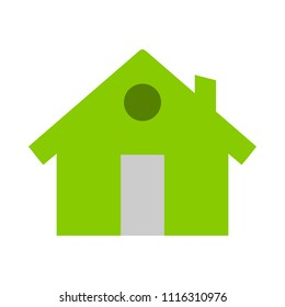 home icon, vector real estate house, residential symbol. Main page symbol