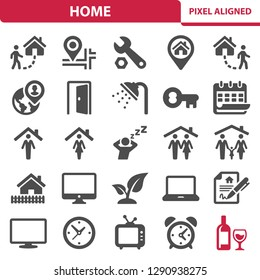 Home Icons. Professional, pixel perfect icons, EPS 10 format.
