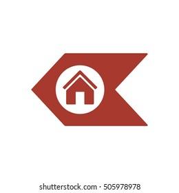 Home  icon,vector. Flat design.