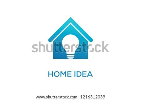 Home Idea Logo Design Stock Image Download Now