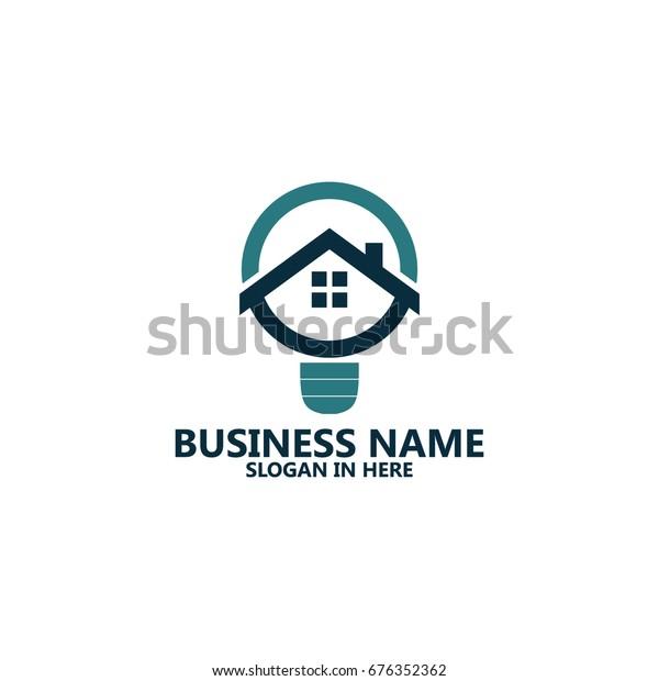 Home Idea Logo Template Design Stock Vector Royalty Free