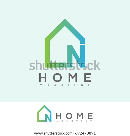 Home Initial Letter N Logo Design Stock Vector Royalty Free