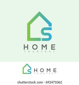 home initial Letter S Logo design