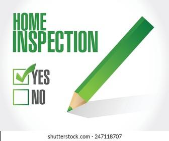 home inspection check list illustration design over a white background