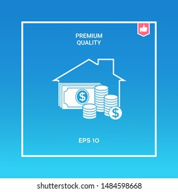 Home insurance icon. Graphic elements for your design