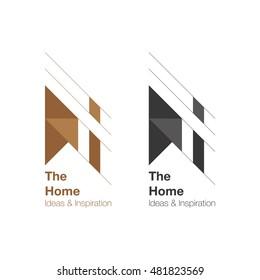 The Home and interior Logo design. Vector logo template. Home ideas and inspiration.
