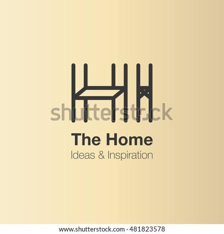 Furniture logo ideas Artisan The Home And Interior Logo Design Vector Logo Template Home Ideas And Inspiration Shutterstock Home Interior Logo Design Vector Logo Stock Vector royalty Free