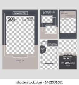 Home Interior Social Media design template