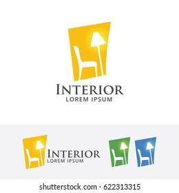 Home Interior, Vector logo template