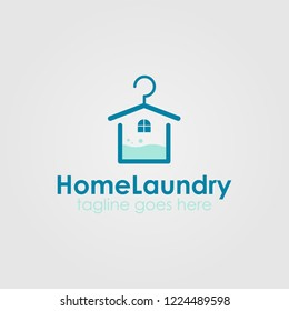 Home Laundry Logo Template Design