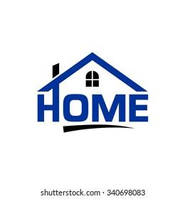 Home Letter, Home Landscape Logo Template