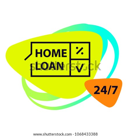 Home Loan Template Financial Sign Logo Stock Vector Royalty Free