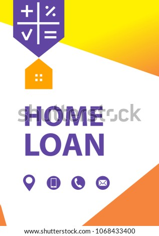 Home loan template financial sign logo stock vector royalty free home loan template financial sign logo badge with plan house concept banner maxwellsz
