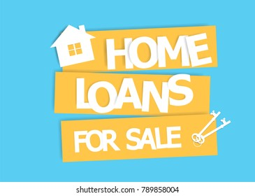 Home loans. Interest zero percent. vector illustration flat design.