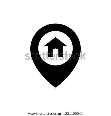 Home Location Icon Editable Vector Stroke Stock Vector (Royalty Free