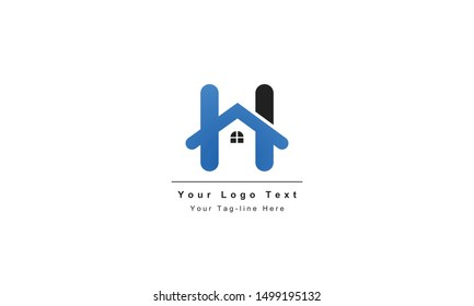 "home logo design, the letter ""H"" is designed to be a symbol or Icon of the house vector"