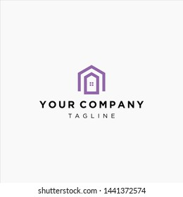 home logo outline simple artwork premium download