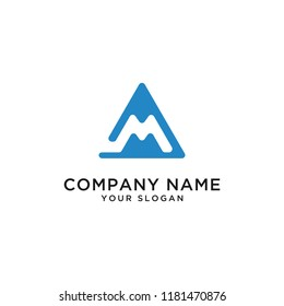 Home logo of real estate building mountain letter m vector