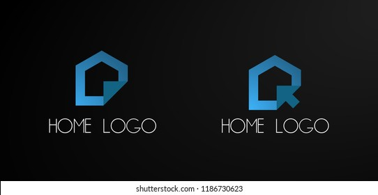 home logo, Set of abstract vector company business logo icons popular web concepts