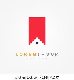 Home Logo Template. Vector Illustrator