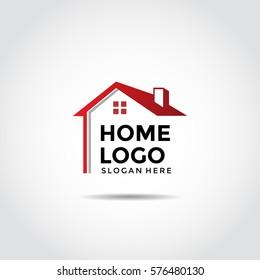 Home Logo Template. Vector Illustrator Eps.10