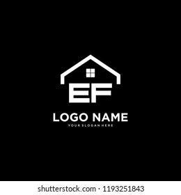 home logo vector. letter E and F logo vector.