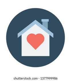 Home Love Color Isolated Vector Icon which can easily modify or edit