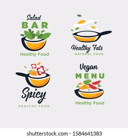 home made cooking, logo template collection