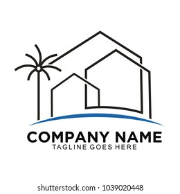 Home minimalis and realestate with modern logo