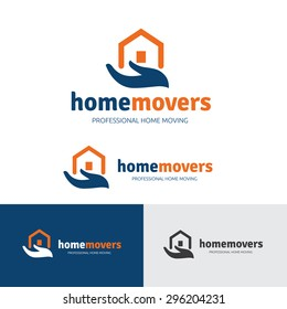 Home Movers , House Relocation Service Logo Template.