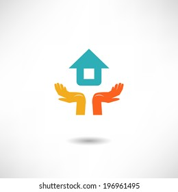 Home on the hands icon