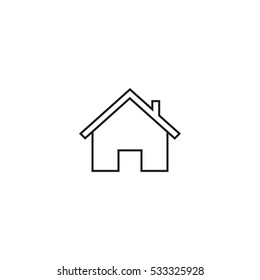 home outline icon illustration, can be used for web and mobile