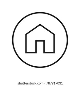 Home page icon vector