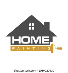 Home painting symbol and logo template