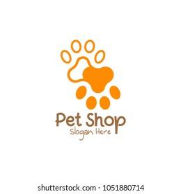 Home Pet Shop Logo Icon Template Design. Vector Illustration