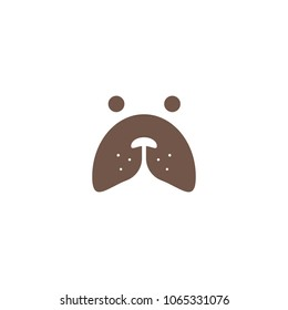 Home pet shop logo icon design template. Animal care vector illustration