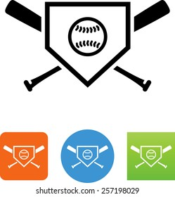 baseball home plate images stock photos vectors shutterstock rh shutterstock com Baseball Bases and Home Plate baseball home plate vector art