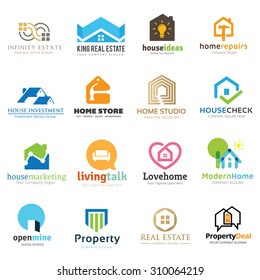 Home and real estate logo set