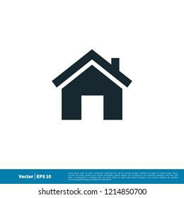home real estate roof icon vector logo element
