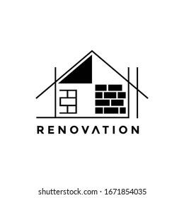 the home renovation company logo