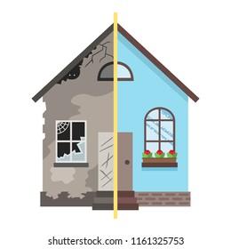 Home renovation design, vector illustration